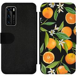 Huawei P40 Wallet Slim Case Orange Juice