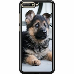 Huawei Y6 (2018) Hard Case (Black) Schäfer Puppy