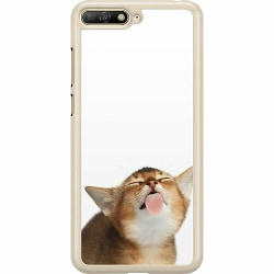 Huawei Y6 (2018) Hard Case (Transparent) Cat Keeps You Clean