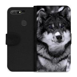 Huawei Y6 (2018) Wallet Case Wolf