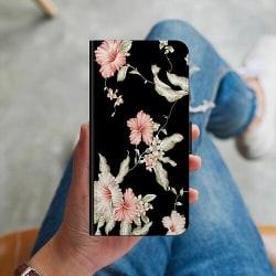 Apple iPhone 12 Plånboksskal Floral Pattern Black