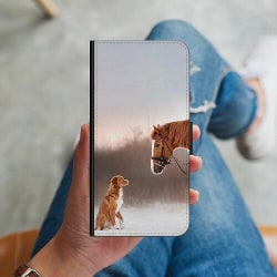 Samsung Galaxy S9 Plånboksskal Häst & Hund