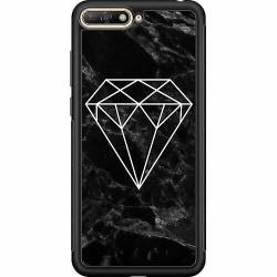 Huawei Y6 (2018) Soft Case (Svart) Marmor Diamant