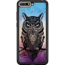 Huawei Y6 (2018) Soft Case (Svart) Owl