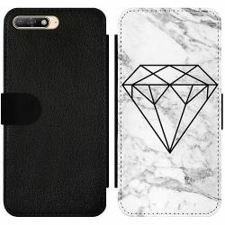 Huawei Y6 (2018) Wallet Slim Case Marmor Diamant