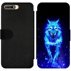 Huawei Y6 (2018) Wallet Slim Case Fire Wolf