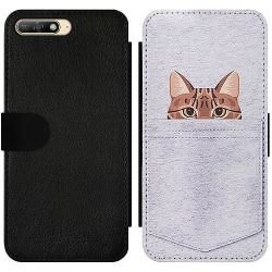 Huawei Y6 (2018) Wallet Slim Case Katt