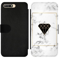 Huawei Y6 (2018) Wallet Slim Case Marble Diamond