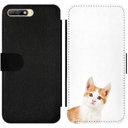 Huawei Y6 (2018) Wallet Slim Case PopUp Cat