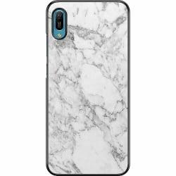 Huawei Y6 (2019) Hard Case (Svart) Marmor Vit