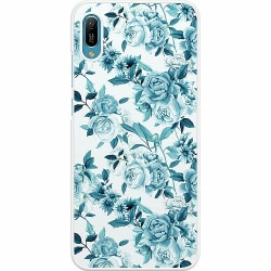 Huawei Y6 (2019) Hard Case (Vit) Blommor