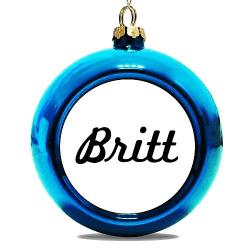 Julgranskula Blå Britt