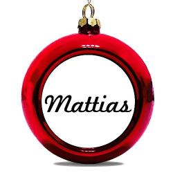 Julgranskula Röd Mattias