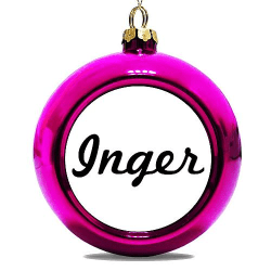 Julgranskula Rosa Inger