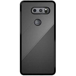 LG V30S ThinQ Mobilskal Black Leather