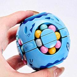 Magic Beans Roterande Sensorisk Leksak Fidget - Blå