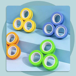 Magnetic Rings Sensorisk Leksak Fidget Spel - Orange