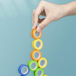 Magnetic Rings Sensorisk Leksak Fidget Spel - Blandade färger