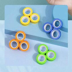 Magnetic Rings Sensorisk Leksak Fidget Spel - Grön
