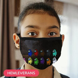 Munskydd, Tvättbar Skyddsmask för Barn - Among Us