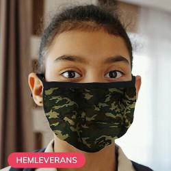 Munskydd, Tvättbar Skyddsmask för Barn - Camo