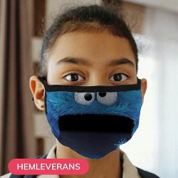 Munskydd, Tvättbar Skyddsmask för Barn - Cookie Monster