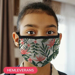 Munskydd, Tvättbar Skyddsmask för Barn - Flowers