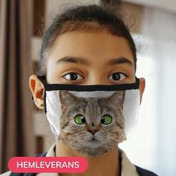 Munskydd, Tvättbar Skyddsmask för Barn - Fly Cat
