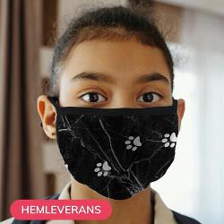 Munskydd, Tvättbar Skyddsmask för Barn - Marmor Tassar