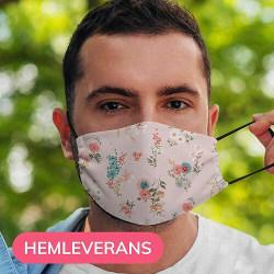 Munskydd, Tvättbar Skyddsmask med Filter - Blush Flowers
