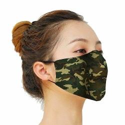 Munskydd, Tvättbar Skyddsmask med Filter - Camo