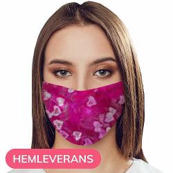 Munskydd, Tvättbar Skyddsmask med Filter - Can You See Hearts?