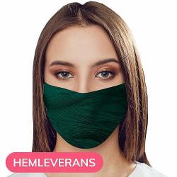 Munskydd, Tvättbar Skyddsmask med Filter - Emerald Spike