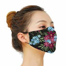 Munskydd, Tvättbar Skyddsmask med Filter - Flowerz