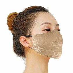 Munskydd, Tvättbar Skyddsmask med Filter - Golden Fluff