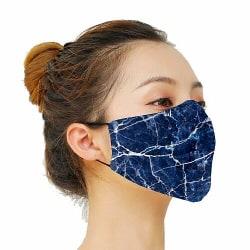 Munskydd, Tvättbar Skyddsmask med Filter - Marbles x2