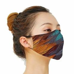 Munskydd, Tvättbar Skyddsmask med Filter - Mönster