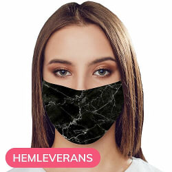 Munskydd, Tvättbar Skyddsmask med Filter - Opaque