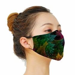 Munskydd, Tvättbar Skyddsmask med Filter - Pixel Forest