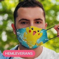 Munskydd, Tvättbar Skyddsmask med Filter - Pokemon
