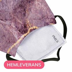 Munskydd, Tvättbar Skyddsmask med Filter - Purple Rain