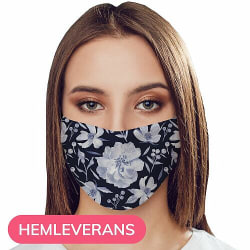 Munskydd, Tvättbar Skyddsmask med Filter - Rythm and Blue Hues