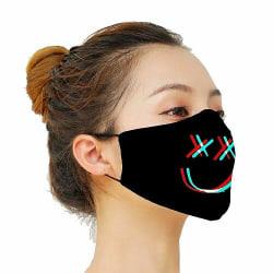 Munskydd, Tvättbar Skyddsmask med Filter - Smile.
