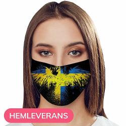 Munskydd, Tvättbar Skyddsmask med Filter - Sweden Sverige