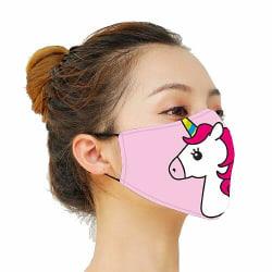 Munskydd, Tvättbar Skyddsmask med Filter - Unicorn