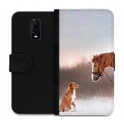OnePlus 6T Wallet Case Häst & Hund