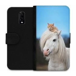 OnePlus 6T Wallet Case Häst & Katt