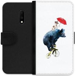OnePlus 7 Plånboksfodral Cat with Bear Buddy