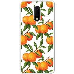 OnePlus 7 Soft Case (Vit) Apelsin