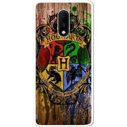 OnePlus 7 Soft Case (Vit) Hogwarts